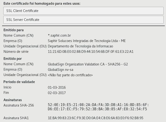 Certificado SSL OV - Organization SSL