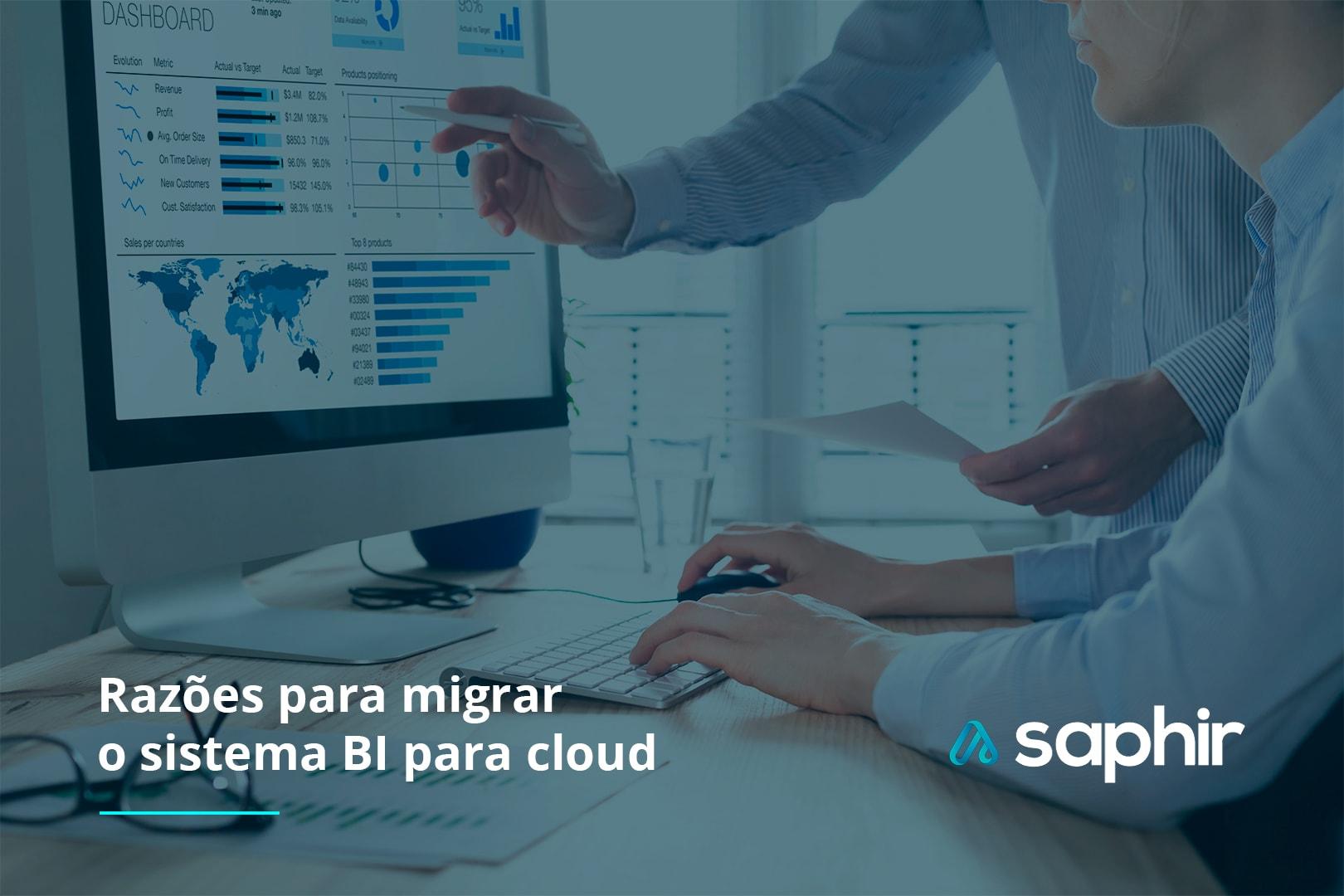 razões para migrar o sistema BI para cloud