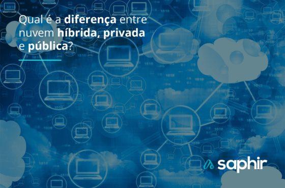 Diferença entre a nuvem híbrida, privada e pública