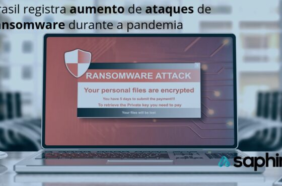 Brasil registra aumento de ataques de ransomware durante a pandemia